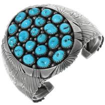 Vintage Turquoise Navajo Silver Bracelet 34143