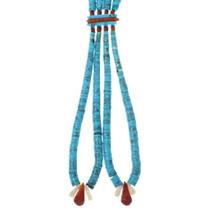 Santo Domingo Double Strand Turquoise Heishi Necklace 34147