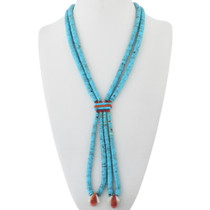 Old Pawn Turquoise Jacla Necklace 34147