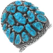 Vintage Sleeping Beauty Turquoise Navajo Bracelet 34152