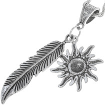 Sterling Silver Feather Pendant 34172