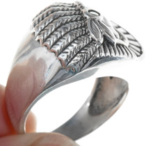 Native American Sterling Silver Mens Ring 34173