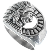 Indian Chief Mens Ring 34173