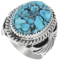 Spiderweb Turquoise Mens Ring 34179