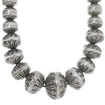 Sterling Silver Bench Bead Necklace 34180