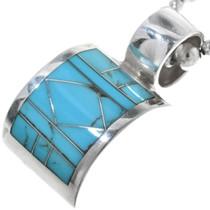 Vintage Zuni Turquoise Silver Pendant 34181