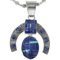 Vintage Lapis Lazuli Silver Pendant 34182