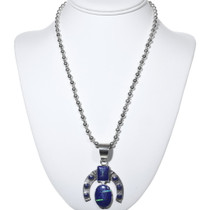 Sterling Silver Inlaid Opal Lapis Necklace 34182