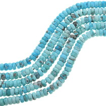 Natural Sonoran Turquoise Rondelle Beads 33468