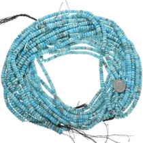 5mm Rondelle Natural Turquoise Beads 33468