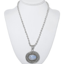 Sterling Silver Moonstone Pendant 34192