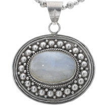 Vintage Mother of Pearl Silver Pendant 34192