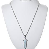 Native American Opal Silver Pendant 34193