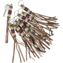 Beaded Leather Key Chain 34203