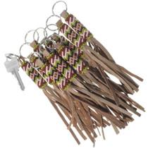 Navajo Beaded Leather Key Chain Accessory 34205