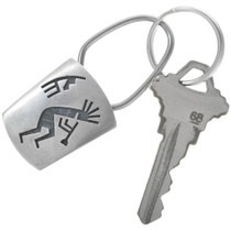 Silver Kokopelli Key Ring 34215