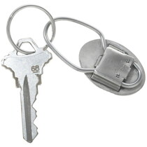 Hopi Made Agave Design Silver Key Ring 34216