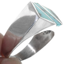 Sterling Silver Turquoise Ring 34223
