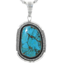 Bisbee Turquoise Navajo Pendant 32881