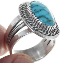Navajo Silver Blue Turquoise Ring