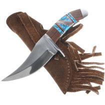 440 Stainless Steel Knife Turquoise Handle 34241
