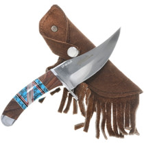 Navajo Inlaid Turquoise Knife 34241