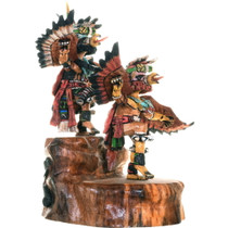 Hand Carved Double Kachina Doll 34267