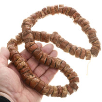 Large Natural Pipestone Beaded Necklace 34268