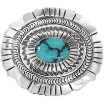 Vintage Navajo Turquoise Belt Buckle 34269