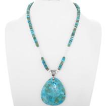 Navajo Beaded Heishi Necklace Pendant 34275