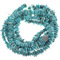 Turquoise Flats Nugget Beads Untreated 33479