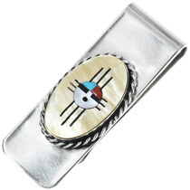 Inlaid Zia Sunface Silver Money Clip 34296