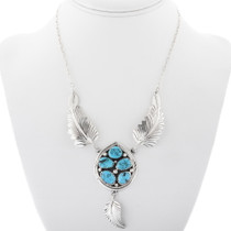 Sterling Silver Feather Necklace 34301