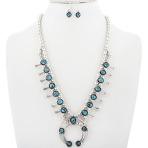 Turquoise Squash Blossom Necklace Set 34303
