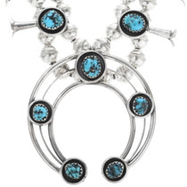 Navajo Phillip Garcia Turquoise Necklace 34303