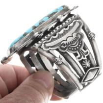 Turquoise Navajo Revival Cuff Bracelet 34305