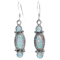 Opal French Hook Earrings 34315