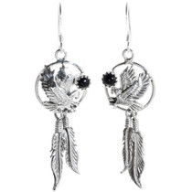 Silver Feather Eagle Earrings 34316