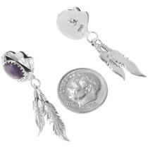 Charoite Purple Southwest Dangle Earrings 34317