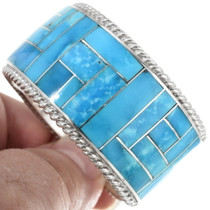 Sterling Silver Turquoise Zuni Cuff Bracelet 34319