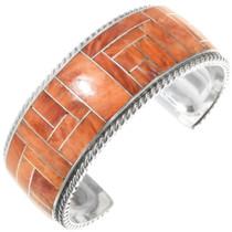 Zuni Inlaid Spiny Oyster Bracelet 34320