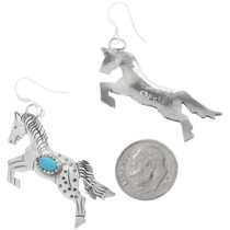 Turquoise Horse Lovers Earrings 34322