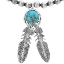 Turquoise Sterling Silver Necklace 34324