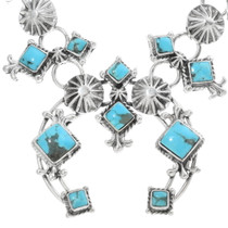 Turquoise Silver Navajo Necklace 34325