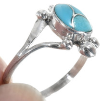 Sterling Silver Turquoise Inlay Ring 34329