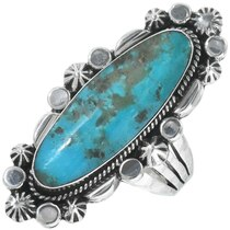 Navajo Turquoise Silver Ring 34330