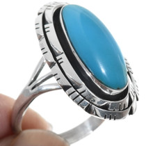 Notched Border Sterling Silver Ring 34331