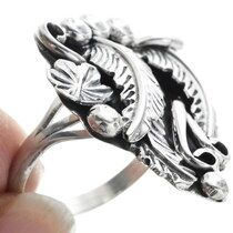 Silver Nature Design Native American Ring 34332
