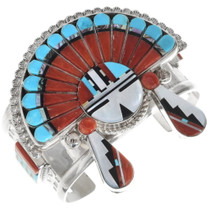 High Quality Zuni Sunface Kachina Bracelet 34335