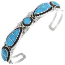 Zuni Inlay Turquoise Bracelet 34337